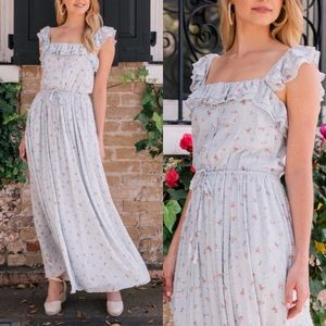Gal Meets Glam Patricia Button Front Maxi Dress